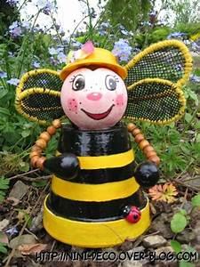 Creation Avec Des Pots De Fleurs : abeilles en pot de terre pot jardins pots pot jardin ~ Melissatoandfro.com Idées de Décoration