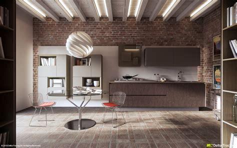 44 brickwall kitchen   Interior Design Ideas.
