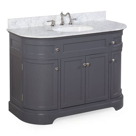 kitchen sinks cabinets montage 48 inch bathroom vanity carrara charcoal gray 2987