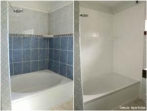 comment peindre ou repeindre une douche 6 etapes simples With respray bathroom tiles