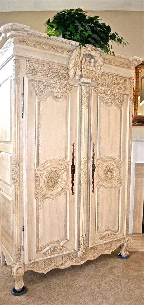 shabby chic wardrobe antique shabby chic french armoire entertainment center wardrobe