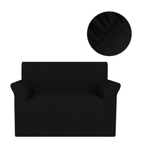 housse de canapé noir acheter vidaxl housse extensible de canapé noir piqué pas