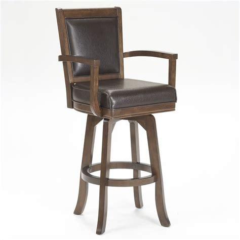 hillsdale ambassador 30 quot swivel arm bar stool in rich