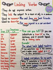 Crafting Connections: Linking Verbs Anchor Chart