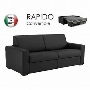 canape convertible cuir center decoration d39interieur With canapé lit 3 places master convertible rapido