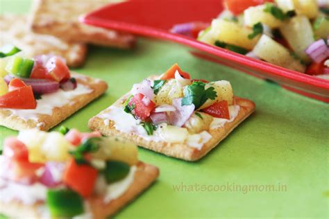 canapes recipes pineapple salsa canapes whats cooking