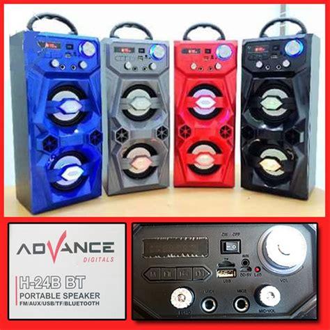 Benda compact menghasilkan berbagai ritme , nada hingga tempo yang berbeda pada setiap instrumen yang dimainkan. Jual H-24B BT Bluetooth Speaker Advance FM Radio USB SD Memory Portable di lapak Mojoarum Grosir ...