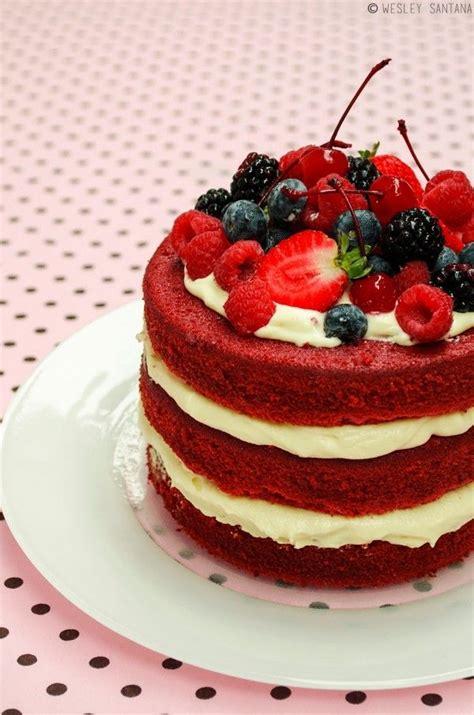 Naked Cake Red Velvet  Receita Deliciosa Do Dia Cake