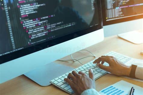 developer  code stock image image  computer marker