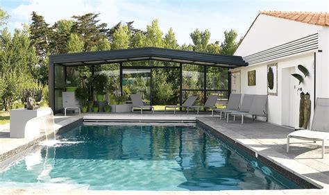 abri de piscine abri piscine haut adoss 233 accol 233 mod 232 les t 233 lescopiques coulissants r 201 noval