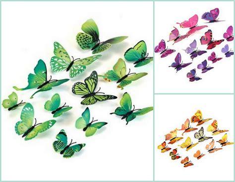 Wall Sticker Stiker Dinding 5d jual 3d butterfly wall sticker stiker dinding kupu kupu