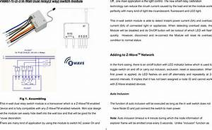 Philio Technology Pan07 In Wall Dual Relay 2 Way  Switch