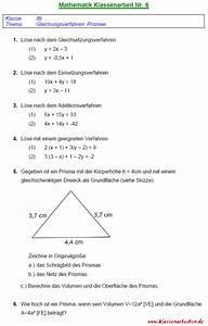 Prismen Berechnen 8 Klasse : gleichungsverfahren ~ Themetempest.com Abrechnung