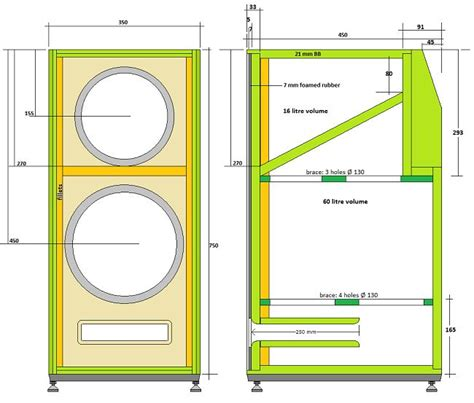 bass cabinet design ats 4 bass and lower bass cabinet 39 s dimentions diy