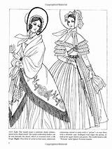 Coloring Dover Pages Adult Fashions Coloriage Amazon Books Fashioned Godey Ladies Ju Sun Ming Publications Sheets Printable Google Civil War sketch template