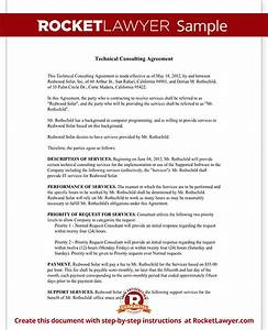 consulting agreement for technical services contract With technical support agreement template