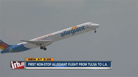 It seems that, except for some places, that is not possible. First Non-Stop Allegiant Flight From Tulsa To L.A. - YouTube