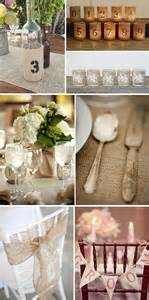 burlap wedding ideas burlap reception details