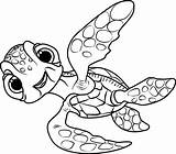 Dory Nemo Squirt Finding Coloring Pages Drawing Hank Crush Printable Pdf Cartoon Drawings Characters Getcolorings Coloringpages101 Categories Template Coloringonly sketch template