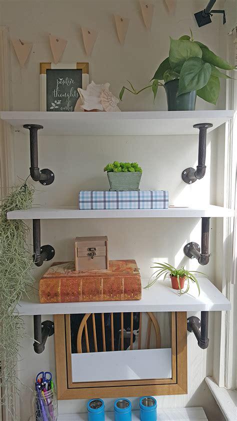 shelves above desk diy shelves