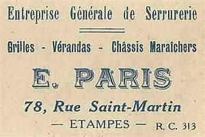 cinquante reclames dentreprises etampoises en 1935 With serrurier etampes