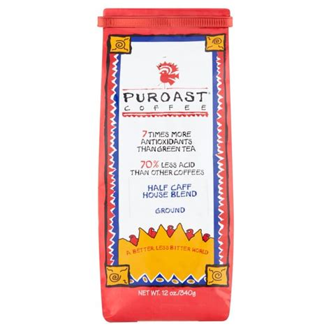 Puroast low acid coffee is perfect for every coffee lover, especially those with heartburn, acid reflux and other gastrointestinal issues. Puroast Half Caff House Blend Low Acid Ground Coffee, 12 oz Bag - Walmart.com - Walmart.com