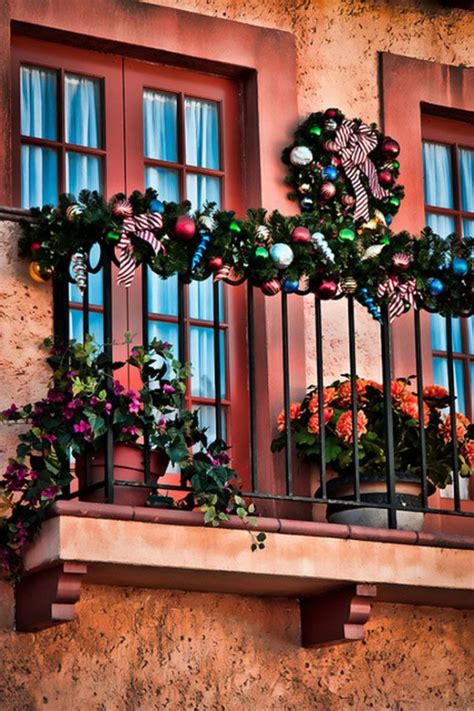 decorating balcony for christmas 17 cool christmas balcony d 233 cor ideas digsdigs