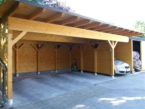 individuelles carport aus vollholz fichte nach mass