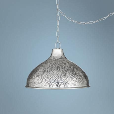 14 1 4 quot wide hammered steel swag pendant light i