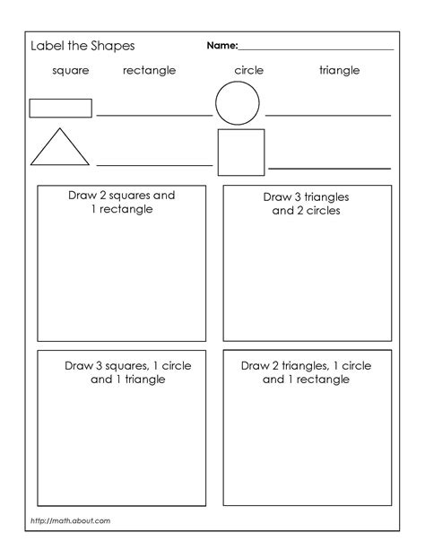 1st grade geometry worksheets for students teaching