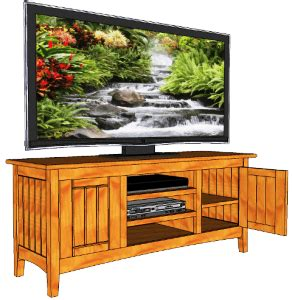 wide screen television cabinet  woodworking plans