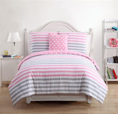 gray and pink comforter set pink grey cotton 4 comforter set