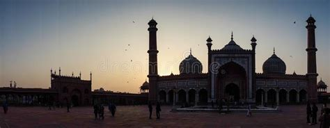 jama masjid mosque  delhi india editorial photo