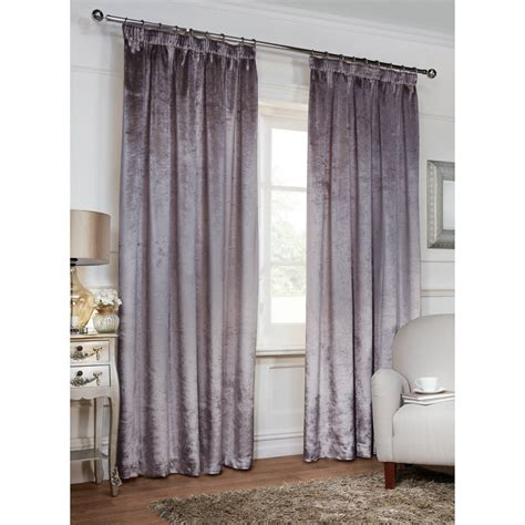 versailles crushed velvet  tape fully lined curtain