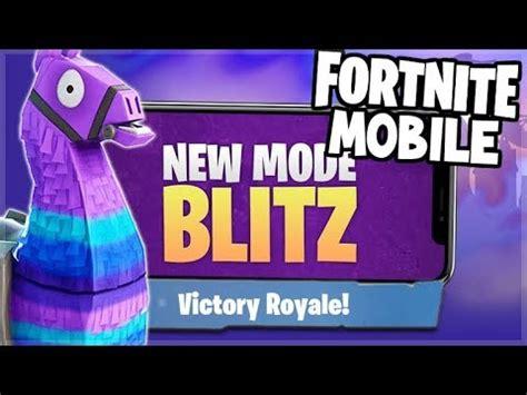 fortnite battle royale ipad pro  blitz gamemode ios