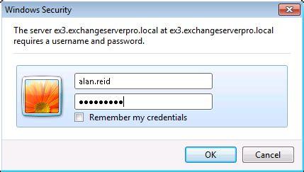 exchange server  outlook web app authentication settings