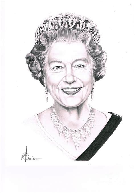 queen elizabeth  murphy elliott queen elizabeth queen drawing  majesty  queen