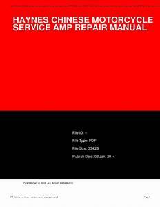 Haynes Chinese Motorcycle Service Amp Repair Manual