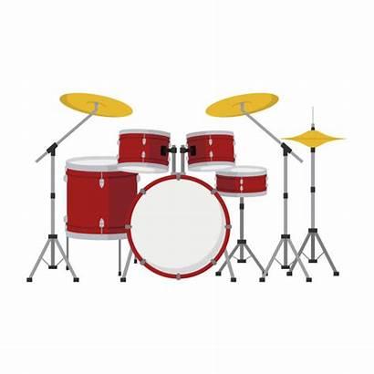 Drum Vector Cartoon Illustration Clip Kit Background