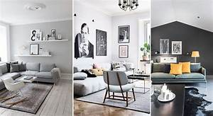 salon gris decoration conseils inspirations With decoration salon en gris