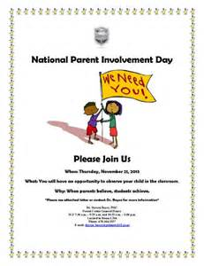 Parent Involvement Flyer