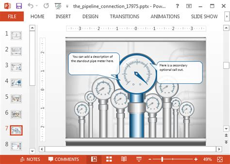 Connections Excel Template by Animated Pipeline Connection Powerpoint Template