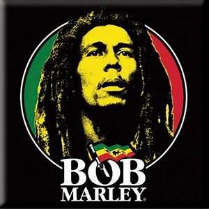 Bob Marley Logo Face Magnet