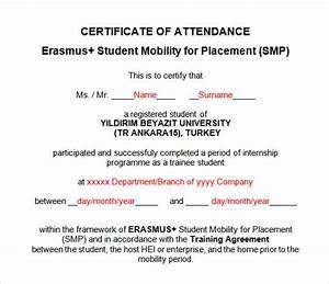 16 attendance certificate template download free With certificate of attendance template microsoft word