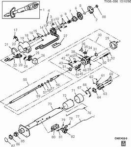 Exploded View For The 1993 Chevrolet Pickup Tilt