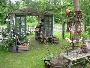 Holzleiter Deko Garten : 43 garten mit alten sachen dekorieren dekoration bilder ideen ~ Sanjose-hotels-ca.com Haus und Dekorationen