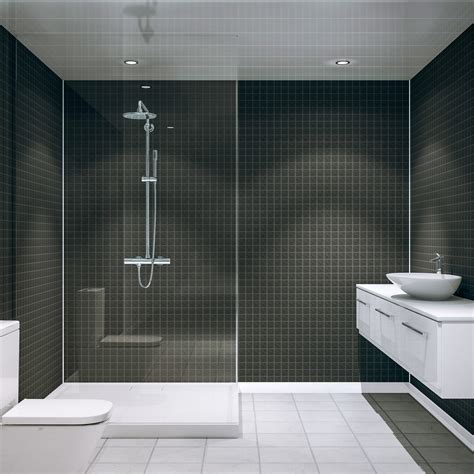 multipanel black slate embossed tile mm  mm