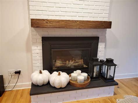 chestnut rustic hand hew wood mantel shelf light
