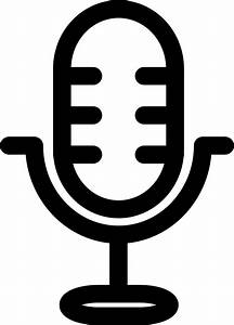 radio mic svg png icon free 20818