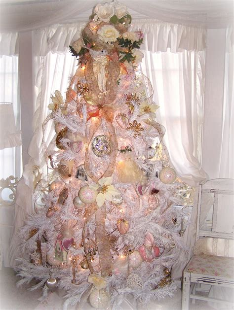 shabby chic christmas olivia s romantic home shabby chic white christmas tree